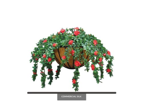 Artificial Azalea Hanging Basket ID# AZA422B+