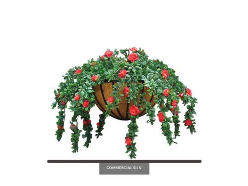 Artificial Azalea Hanging Basket ID# AZA422B+
