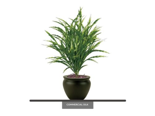 Artificial Potted Ribbon Grass ID# GRB221G+
