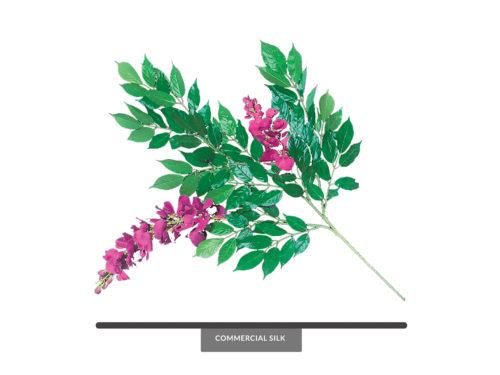 Fuchsia Wisteria Spray, Fuschia ID# WIS#24F