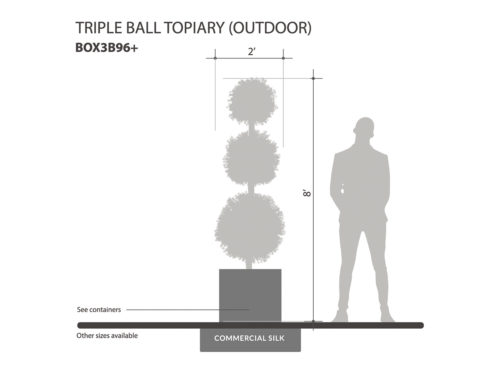 Outdoor Boxwood Ball Topiary ID# BOX3B96+