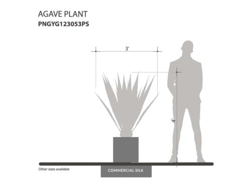 Artificial Agave Plant ID# PNGYG123053PS